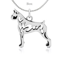 Boxer Body Sterling Silver Necklace