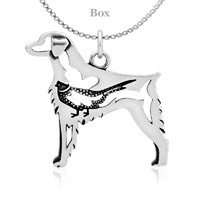 Brittany W/Pheasant Sterling Silver Necklace