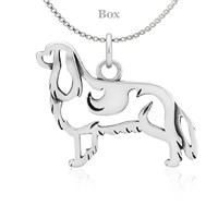 Sterling Silver Cavalier King Charles Body Necklace