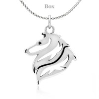 Collie Necklace Sterling Silver