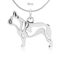 French Bulldog Body Necklace Sterling Silver