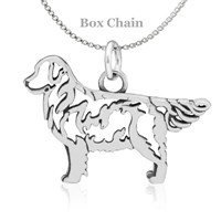 Golden Retriever Body Necklace Sterling Silver