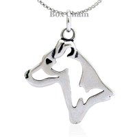 Jack Russell Terrier Smooth Coat Necklace Sterling Silver