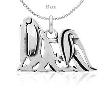 Maltese Body Necklace Sterling Silver