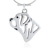 Mastiff Necklace Sterling Silver