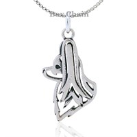 Papillon Head Necklace Sterling Silver
