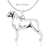 Rottweiler Body Necklace Sterling Silver