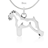 Schnauzer Natural Ears Body Necklace Sterling Silver