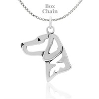 Vizsla Necklace Sterling Silver