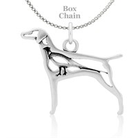 Vizsla W/Pheasant Necklace Sterling Silver