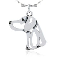 Weimaraner Necklace Sterling Silver