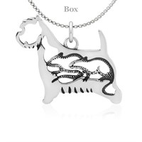 Sterling Silver West Highland Terrier W/Rats Body Necklace