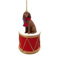 Vizsla Little Drummer Christmas Ornament