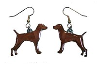 Vizsla Earrings Hand Painted Acrylic