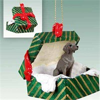 Weimaraner Gift Box Christmas Ornament