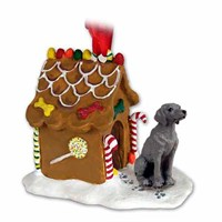 Weimaraner Gingerbread House Christmas Ornament