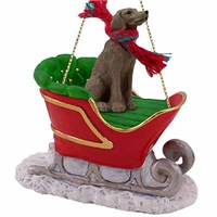 Weimaraner Sleigh Ride Christmas Ornament