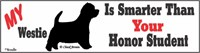 Westie Honor Student Bumper Sticker