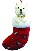Westie Christmas Stocking Ornament