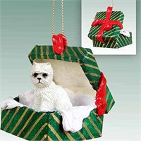 Westie Gift Box Christmas Ornament