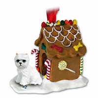 Westie Gingerbread House Christmas Ornament