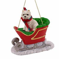 West Highland Terrier Sleigh Ride Christmas Ornament