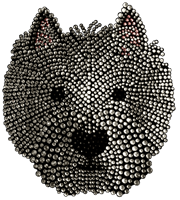 West Highland Terrier T-Shirt Rhinestone-Rhinestud