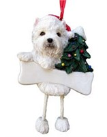 Westie Christmas Tree Ornament Personalized
