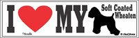 Wheaten Terrier Bumper Sticker I Love My