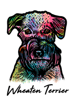 Wheaten Terrier T Shirt Colorful Abstract