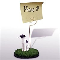 Whippet Note Holder (Gray & White)