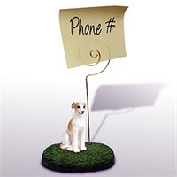 Whippet Note Holder (Tan & White)