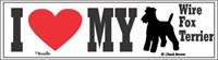 Wire Fox Terrier Bumper Sticker I Love My