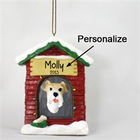 Wire Fox Terrier Personalized Dog House Christmas Ornament