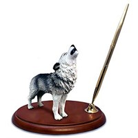 Wolf Pen Holder (Gray)
