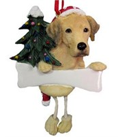 Yellow Lab Christmas Tree Ornament - Personalized