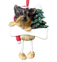 Yorkie Christmas Tree Ornament Personalized