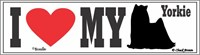 Yorkshire Terrier Bumper Sticker I Love My