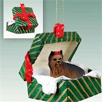 Yorkie Christmas Ornament Gift Box