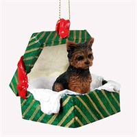 Yorkie Ornaments by YUCKLES!