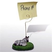 Zebra Note Holder