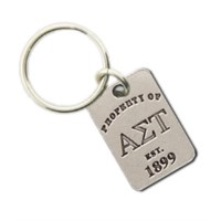 Alpha Sigma Tau Property Of Tag Keyring