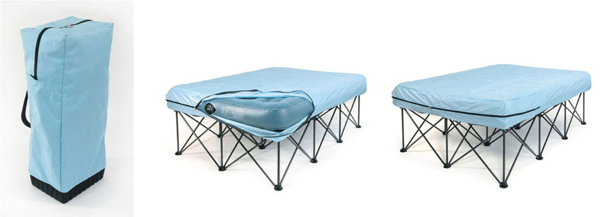 Twin Portable Bed Frame For Air Filled Mattresses With Bag