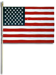 """American Stick Flags for Parades  Memorials 12"""" by 18"""""""