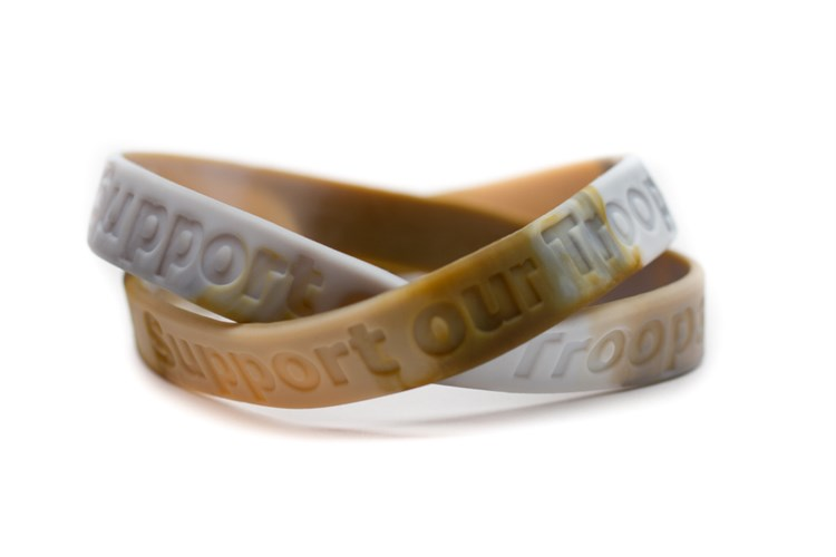 """""""Support our Troops"""" Military Match Rubber Wristband - Ca..."""