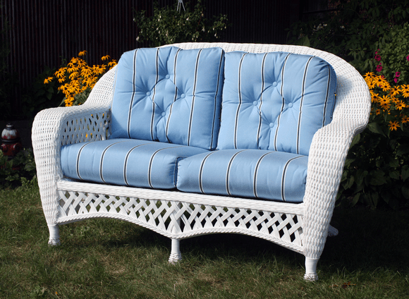 Montauk Wicker Loveseat Cushions