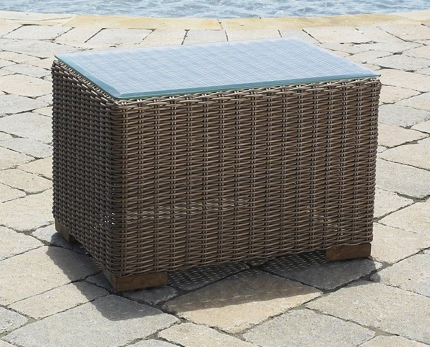 Patio Wicker End Table - Santa Barbara