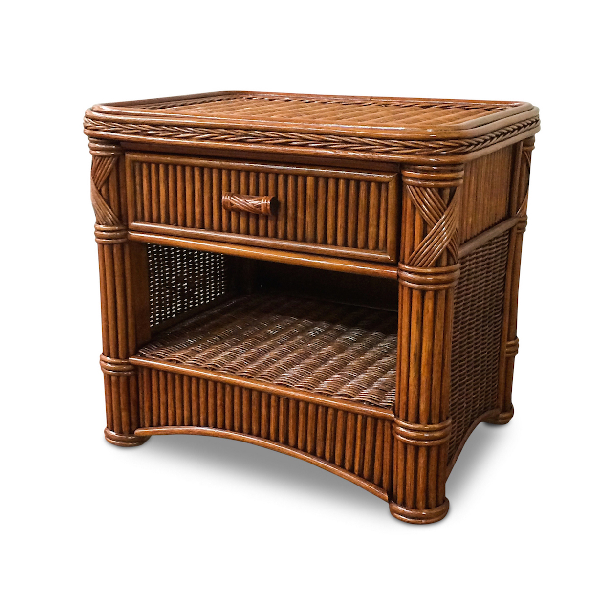 Furniture Bedroom Furniture Nightstand Rattan Wicker Nightstand