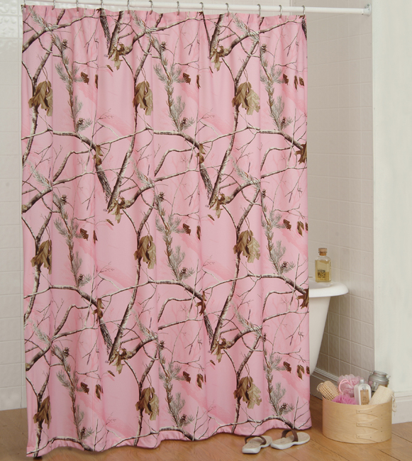 Realtree Ap Pink Shower Curtain Camo, Camouflage Bathroom Sets