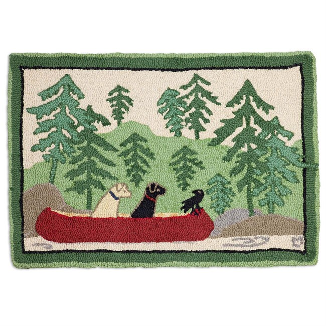 Dogs Day Out Hooked Wool Rug